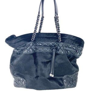 """Chanel Ponyhair Chain Tote Hobo Black Fur 31cca63"